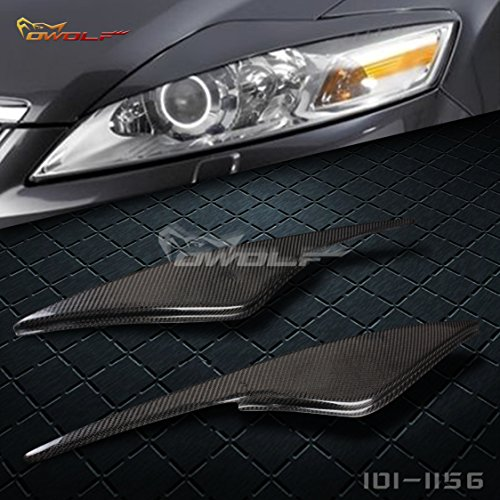 for Ford mondeo MK4 Eyebrow Eyelid Headlight Cover PAIR Carbon Fiber 07-13