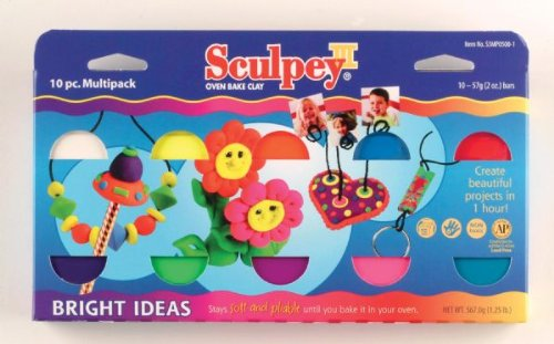 Sculpey Iii 2oz 10/Pkg-Bright Ideas