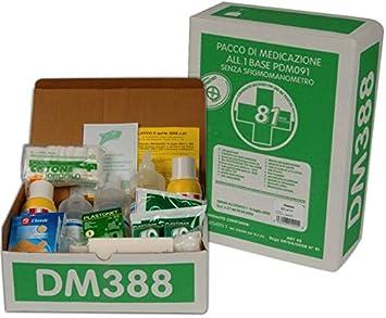Kit de medicación para botiquín de primeros auxilios para empresas con 1 paquete de medicamentos,