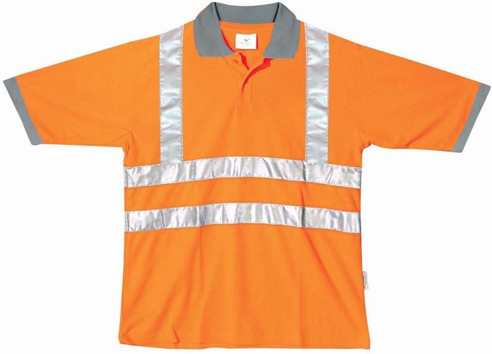 Polo manga corta alta visibilidad, poliéster 100%, peso 180 g/m2 ...