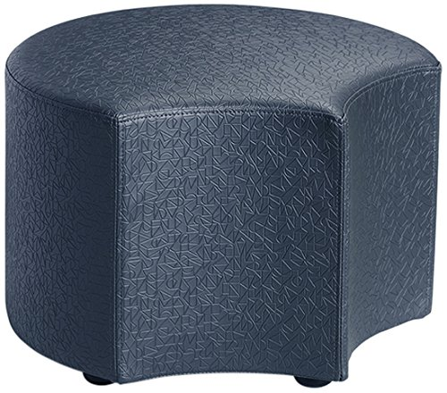 Logic Furniture MOONENY06 Moon 4 Face Ottoman, 6'', Navy by Logic Furniture