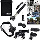 EEEKit 4in1 Bicycle Kit for Sony Action Cam HDR-AS15/HDR-AS200V/AS100V/FDR-X1000V/ION Air Pro 3/2 Wi-fi HD,Bike Handleb, Helmet Mount,Handheld Monopod