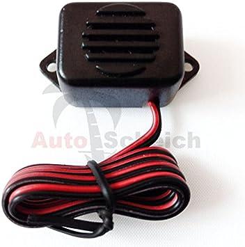 6//12V Auto Lichtwarner Kontrollsummer Licht Aus Summer KFZ Adapter Pieper Kabel