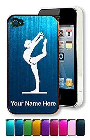 Engraved Aluminum iPhone 4/4S Case/Cover - GYMNASTICS WOMAN - Personalized for Free (Personalized Iphone 4s Phone Case)