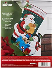 Bucilla 18-Inch Christmas Stocking Felt Applique Kit, 86360 Santa's List