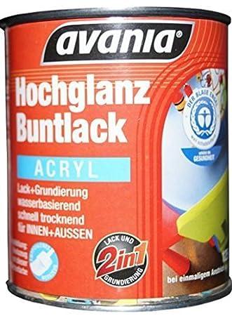 Turbo Avania Hochglanz Buntlack / Acryllack / weiß / 2,5 l / 2 in 1 Lack NE28