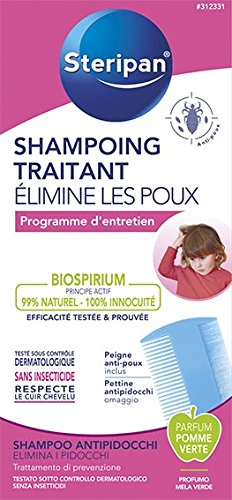 4 opinioni per Steripan Trattamento Shampoo 125ml Un Pidocchi pettine pidocchi
