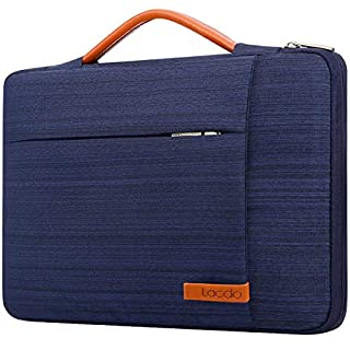 Lacdo 360° Protective Laptop Sleeve Case Computer Bag for 15.6 Inch Acer Aspire, Predator, Inspiron, ASUS ZenBook 15 VivoBook, HP Pavilion, IdeaPad 330, ThinkPad E590 Chromebook Water Repellent, Blue