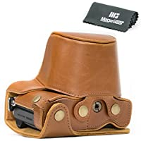 MegaGear Ever Ready Protective Leather Camera Case, Bag for Olympus OM-D E-M10 Mark II with 14-42mm Digital Camera (Light Brown)