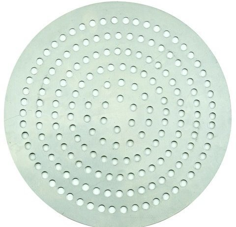 Winco APZP-14SP, 14-Inch Super-Perforated Aluminum Pizza Disk with 370 Holes, Pizza Screen (Aluminum Disk Bottom)