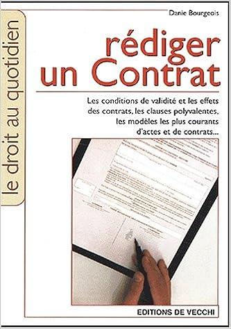 En ligne Rédiger un contrat epub pdf