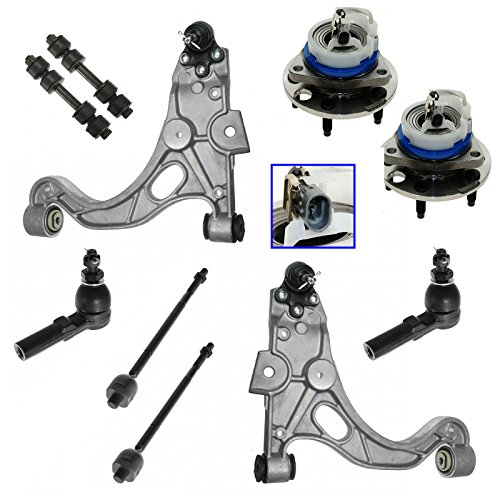 Control Arm Ball Joint Sway Bar Link Tie Rod End Wheel Hub Bearing Set of 10