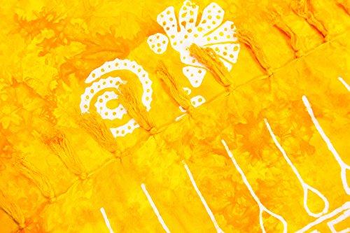 forte gonna pareo sarong non e per trasparente colori e telo 225x115cm portafoglio da spiaggia a motivi 155x115cm ManuMar leggero telo donna Conchiglia mare sfrangiato foulard XXL Giallo taglia sauna dHPqcI