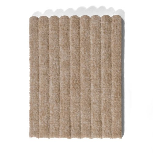 15 cm x 1.3 cm Heavy Duty Felt Strips, Tan Beige, 108 Pcs, as floor protector for case legs, table legs, chair legs - Made in Canada The Felt Store
