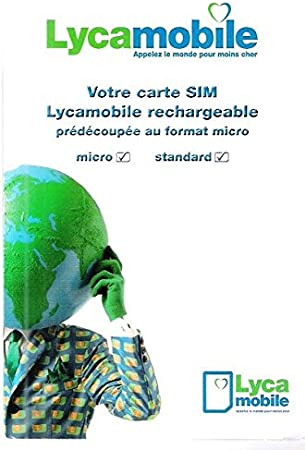 Carte Sim Lycamobile Rechargeable France Amazon Fr High Tech