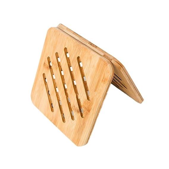 Estera para ollas de bambú resistente al calor antideslizante para ...