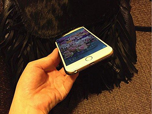 Hosaire Hülle für Apple iphone 7,Handy Schutzhülle Mode Lila Spitzenmuster Design Silikon Phone Handyhülle Shell