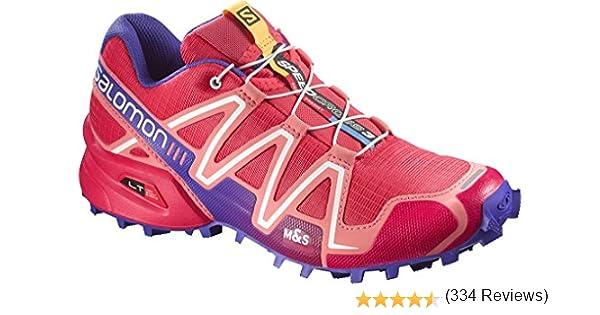 Zapatillas de running para mujer Salomon Speedcross 3, color Rojo ...