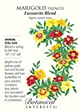 Botanical Interests, Seed Marigold French Favourite Blend