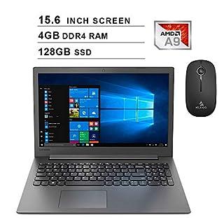 2020 Lenovo IdeaPad 130 15.6 Inch Laptop| AMD A9-9425 up to 3.70 GHz| 4GB DDR4 RAM| 128GB SSD| WiFi| Bluetooth| DVD| Windows 10 Home S + NexiGo Wireless Mouse