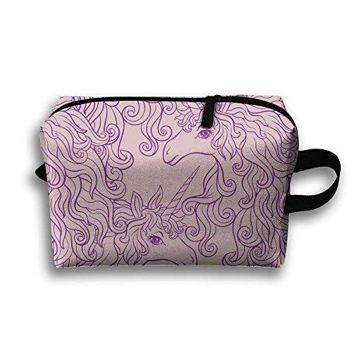 Unicorn Horse Clipart Zipper Travel Cases Power Lines Bag