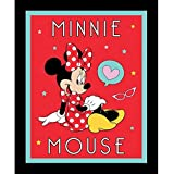 """Minnie Mouse Cotton Fabric Panel (Great for Quilting, Sewing, Craft Projects, a Child's Quilt & More) 44"""" x 35"""" Wide"""