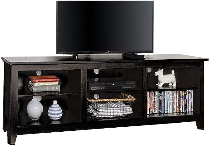 ATS - Estantería de Madera para televisor de 70 Pulgadas con estantes Negros para organizar Muebles y Libros electrónicos en Interiores de AllTim3Shopping: Amazon.es: Juguetes y juegos