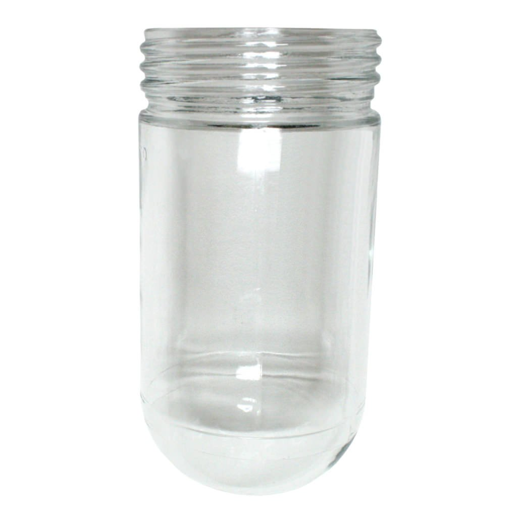 Westinghouse 81448 Threaded Clear Glass Jelly Jar For Outdoor Light Fixture Flood Lighting Com