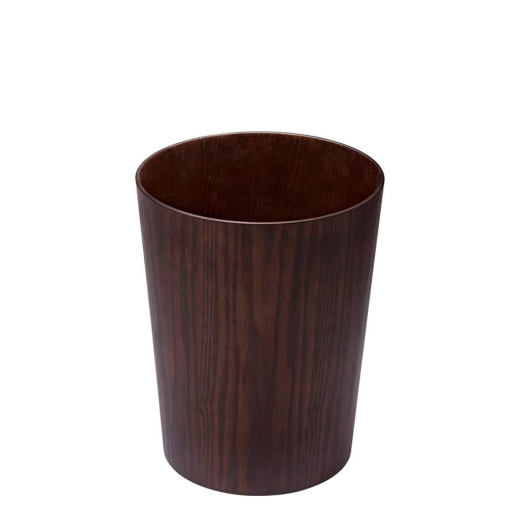 SX-ZZJ trash can- Trash Can Durable Bedroom Bathroom Office Stylish Wood Grain Small Trash Can (Color : B)