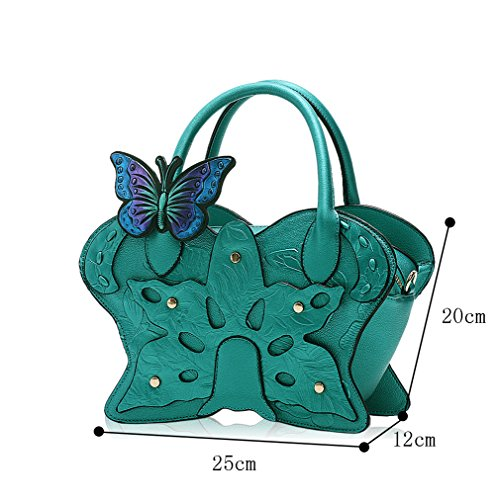 Tote Genda Shoulder Girl Butterfly Hobo 2Archer Women Fashion Bag Green RYwYgnUrxq