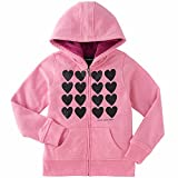 Calvin Klein Jeans Girls' Sherpa Lined Hoodie Pink X-Small 5/6