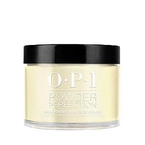 OPI Powder Perfection, Yellow Dipping Powder Nail Color