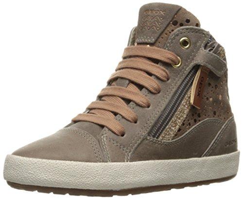 Geox Mädchen JR Witty B Hohe Sneakers, Beige (DK BEIGEC5005), 36 EU
