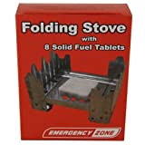 Folding Camping Stove (with 8 Fuel Tablets), Emergency Stove, Emergency Heat, Outdoor Stuffs