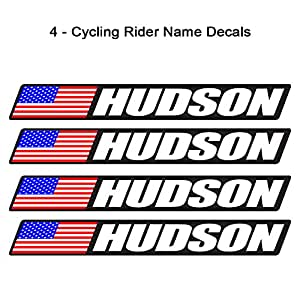 Amazon.com : 4 piece Custom Bicycle Frame Name USA Decal Sticker Set  road bike cycling