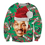 KSJK Unisex Funny Print Ugly Christmas Sweater Jumper