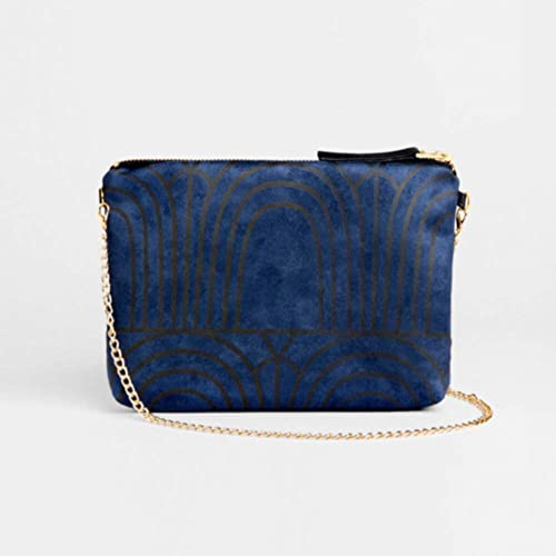 a8f6d8a624a Image Unavailable. Image not available for. Color: Blue Clutch bag ...