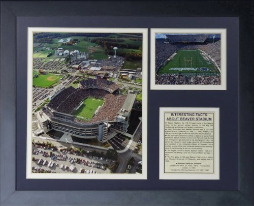 Legends Never Die Penn State Nittany Lions Beaver Stadium Framed Photo Collage, 11 by 14-Inch