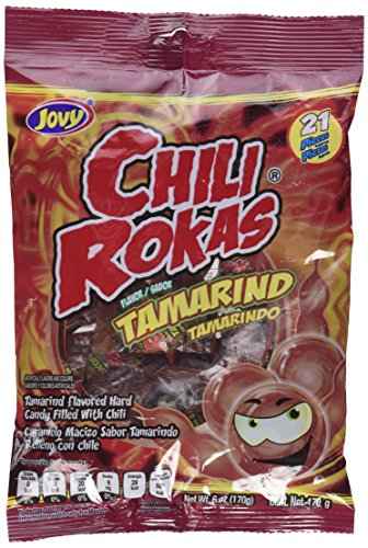 Mexican Candy Tamarind Flavor, Pack of 3 Chili Rokas 6oz Bags