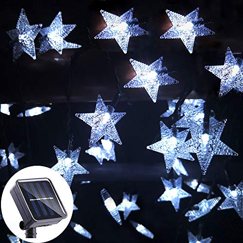 Lumsworld 50 LED Solar Powered String Lights, 8 Modes Solar Star String Lights, Waterproof Christmas Lights Outdoor Solar String Lights for Christmas Garden Yard Camping Patio Umbrella
