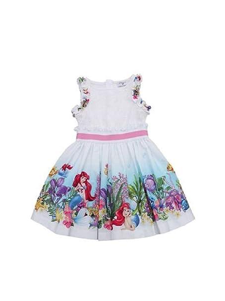 online retailer 66849 b80fb MONNALISA Vestito Bambina 113929 Bianco Abito Estate