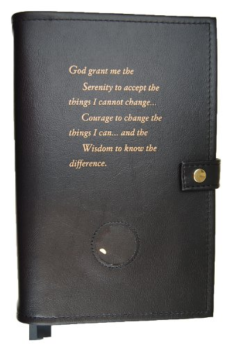 Culver Enterprises Paperback GIANT PRINT Deluxe Double Alcoholics Anonymous AA Big Book & 12 Steps & 12 Traditions Book Cover Coin Holder Black by Culver Enterprises