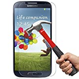 [1Year Warranty]Samsung S4 Glass Screen Protector, OuTera 0.26mm 9H Tempered Glass Screen Protector High Defintion (HD) Bubble-Free 99% Touch-screen Accurate for Samsung Galaxy S4