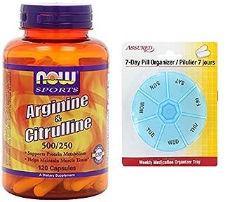 AHORA deportes de arginina y citrulina, 120 vegetales cápsulas