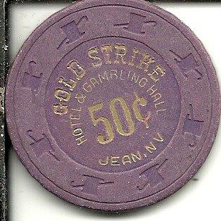 $.50 gold strike jean nevada casino chip (Gold Strike Jean)