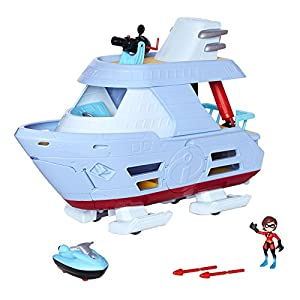 51W8VfSaecL. SS300 The Incredibles 2 Hydroliner (Ship) Action Playset comes with Elastigirl Junior Super Figure