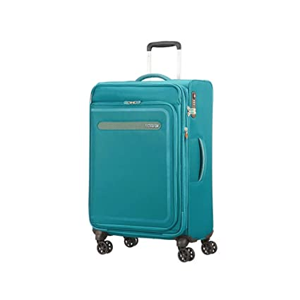 American Tourister Airbeat - Spinner 68/25 Expandable Equipaje de Mano, 68 cm, 75 Liters, Azul (Sky Blue)