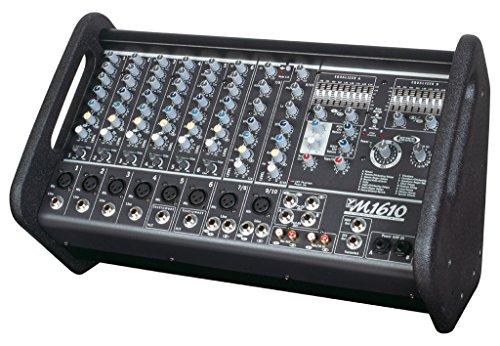 800w Powered Stereo Mixer (Yorkville M1610-2 Powered Box Mixer 2x800w, 10 inputs Mixer/Amp)