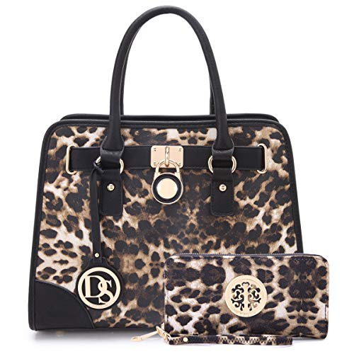 Chain Print Wallet - Women Designer Handbags and Purses Ladies Satchel Bags Shoulder Bags Top Handle Bags w/ Matching Wallet