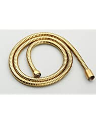 "1/2"" Connection Stainless Steel Replacement Handheld Shower Hose Polished Brass Finish (4.9 Ft) (59 Inches) (1.5 Meters)"